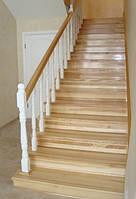 Лестницы под заказ из дуба ясена сосны Лестница из массива купить