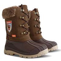 Зимние сапоги-сноубутсы Demar Polaris коричневые р.35-40 для мальчиков подростков на овчине