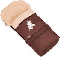 Детский конверт  на овчине в коляску, санки  № 20 Womar™ Коричневый