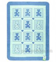 Детское одеяло Влади Барни голубое 100х140 см