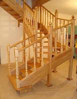 Сходи для дому дерев'яні сходи сходи класичні світлі з дерева Львів Тернопіль Чернівці