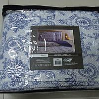 Покрывало Home Line ПЕЧВОРК 240Х260 с вышивкой ELEGANCE Синий с наволочками