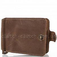 Кошелек с зажимом для денег Dnk Leather DNK-Clamp-Hcol.G коричневый