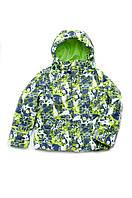 Куртка-жилет для мальчика утепленная зеленая, синяя 2в1  от 4 до 8 лет размер 110-128