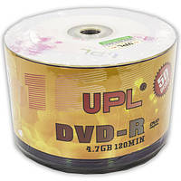 Диск DVD R UPL 4,7 GB 16x bulk Rose 50 шт двд диски 4,7 Гб для записи информации видео музыки