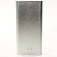 Дополнительный внешний аккумулятор Xiaomi 20800 mAh power bank портативная батарея универсальная металл silver