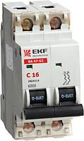 Электрический автомат типа EKF ВА 47-63 2/63А