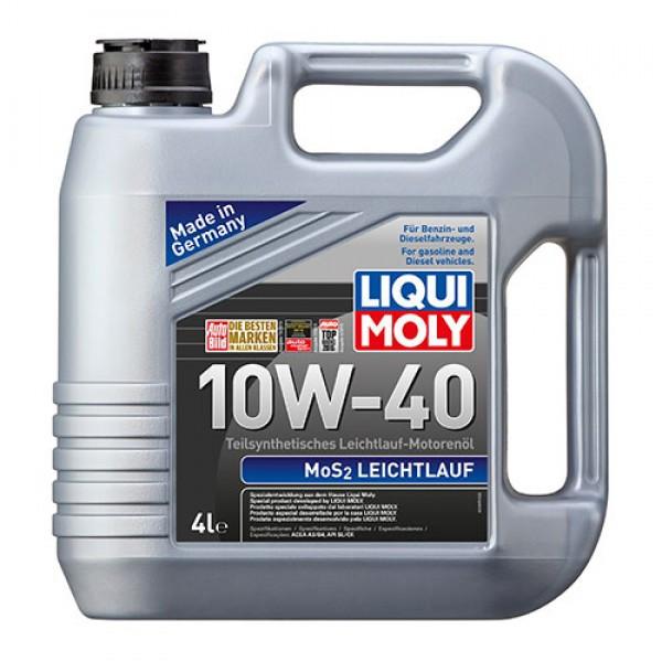 Полусинтетическое моторное масло с молибденом Liqui Moly MoS2 Leichtlauf SAE 10W-40 4 л.