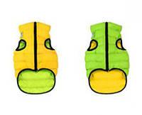 Курточка двухсторонняя Collar AiryVest, салатово-желтая, S 40 1583
