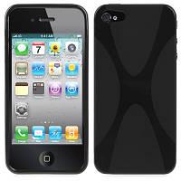 Силиконовый чехол для IPhone 5 X-style черный