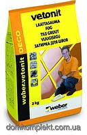 Вебер. ветонит ДЕКО 25 лимон 2кг