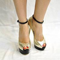 Золотистые туфли Medea, фото 1