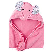 Махровый уголок-полотенце Carters розовый Слоник