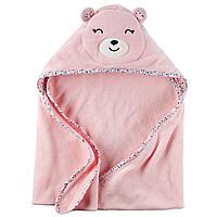 Махровый уголок-полотенце Carters розовый Мишка