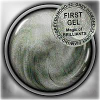 Гелевая краска First Gel 5 гр. , цвет Grey Diamond, арт.32