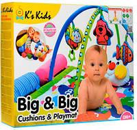 Развивающий коврик Гусеничка с мягкими валиками и дугой, K's Kids (10534)