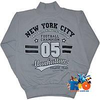 """Детский теплый гольф """"New York City"""", трикотажный (начес) , для мальчика от 5-8 лет"""