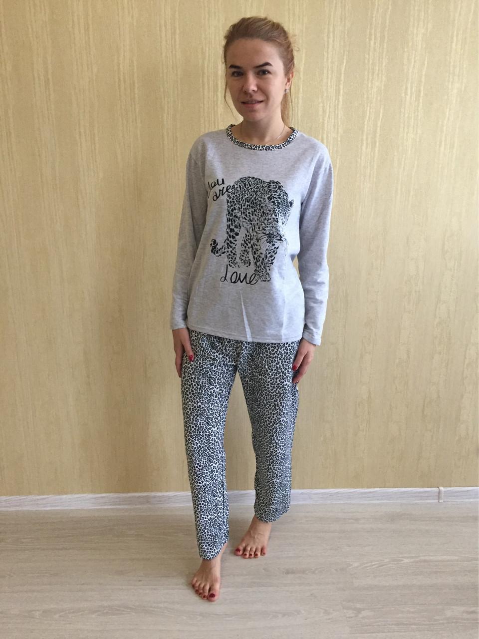 Пижама женская ASMA Леопард с начесом  продажа 4fb503ca43c51