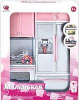 Игровой набор Qun Feng Toys Современная кухня 1 со звуком и светом Розовая 26212P (26212P)