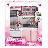 Игровой набор Qun Feng Toys Современная кухня 5 со звуком и светом Розовая 26216P (26216P)