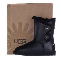 Угги женские кожаные UGG AUSTRALIA 150105 черные