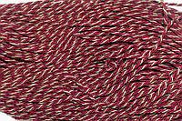 Канат декоративный 6мм (т) (100м) бордовый+золото , фото 1