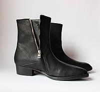 Шикарные женские кожаные ботинки J.Lindeberg, Италия-Оригинал