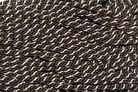 Канат декоративный ПЭ 10 мм (50м) т.коричневый+золото, фото 1