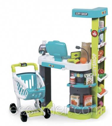 """Интерактивный супермаркет """"City Shop"""" с тележкой, продуктами и аксес., 3+"""