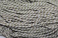 Канат декоративный ПЭ 10мм (50м) св.беж+золото , фото 1