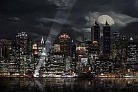 """Бесшовные фотообои """"Ночной мегаполис"""" 435х300 см"""