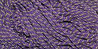 Канат декоративный ПЭ 10мм (50м) фиолетовый+золото , фото 1