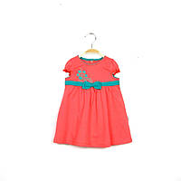 Детское летнее платье кораллового цвета