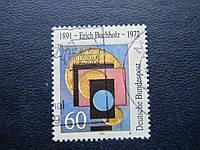 Марка Германия ФРГ 1991 живопись Эрих Буххольц