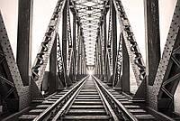 """Бесшовные фотообои """"Железнодорожный мост"""" 435х300 см"""
