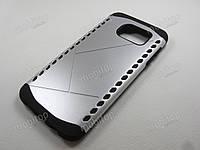 Противоударный чехол Samsung Galaxy S7 Edge (серебристый), фото 1