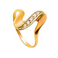 Золотое кольцо с цирконием 83409