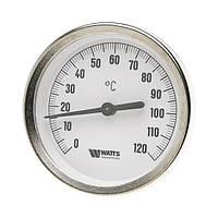 Термометр биметаллический  ф 80 мм 100 мм гильза Watts (Германия)