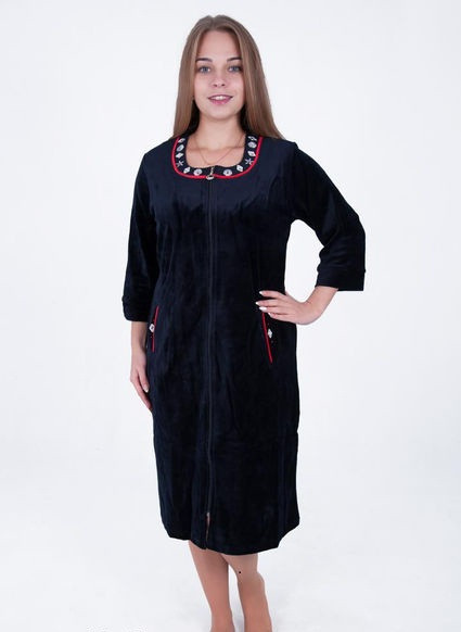 Велюровый женский халат Ожерелье