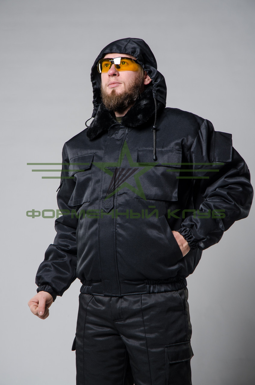 Куртка зимняя для охраны черная 48 размер
