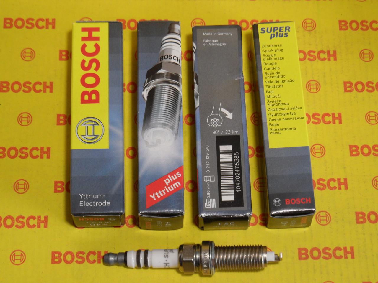Свечи зажигания BOSCH, VR8SC+, +40, 0.9, Super +, 0242129510, 0 242 129 510,