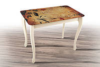 Стол обеденный Смарт Ваниль+стекло (Микс Мебель ТМ)