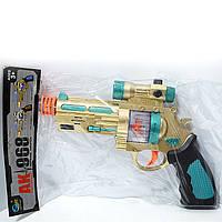Игрушечный пистолет АК 968 на батарейках свет звук