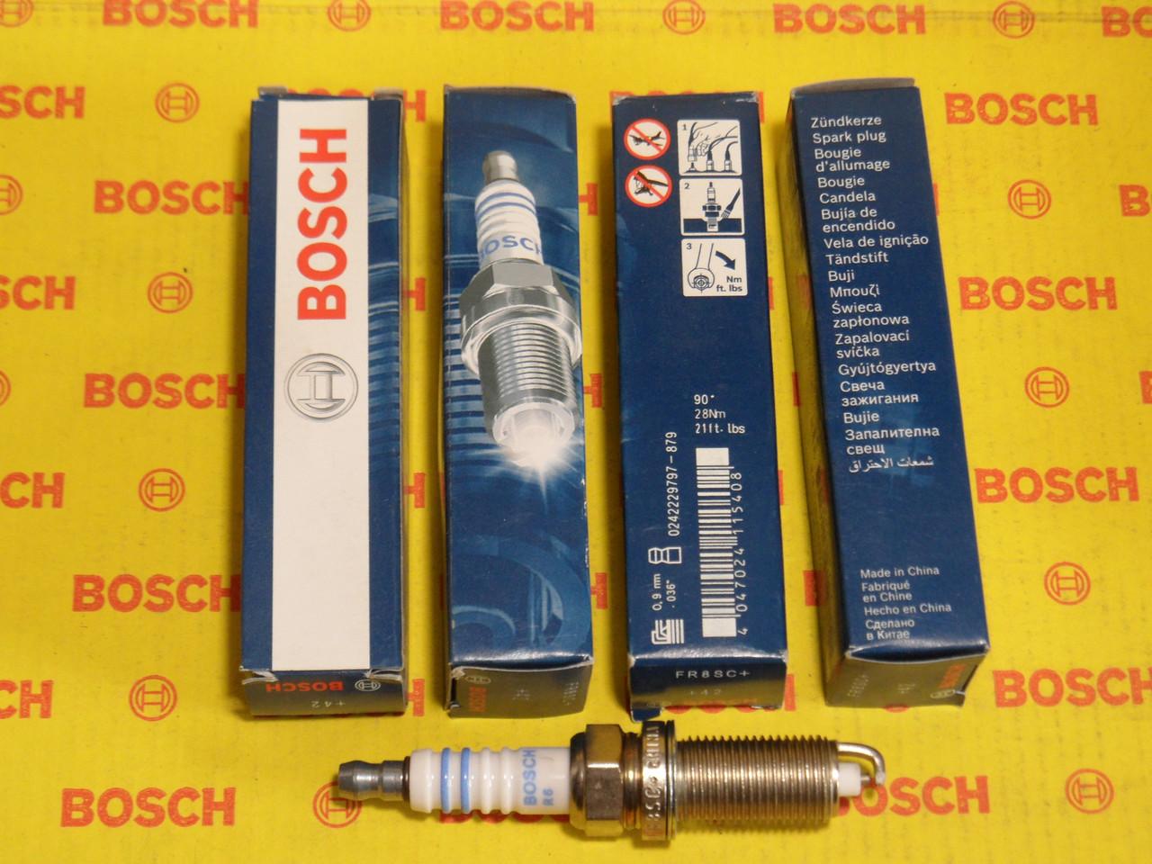 Свечи зажигания BOSCH, FR8SC+, +42, 0.9, Super +, 0242229797, 0 242 229 797,