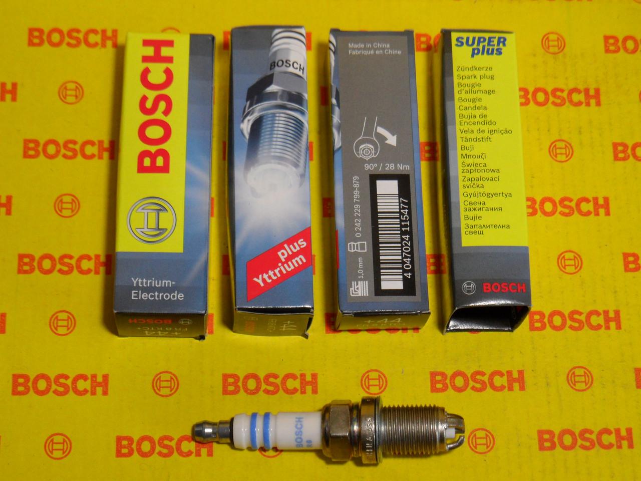 Свечи зажигания BOSCH, FR8KTC+, +44, 1.0, Super +, 0242229799, 0 242 229 799,