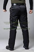 Утепленные штаны черные