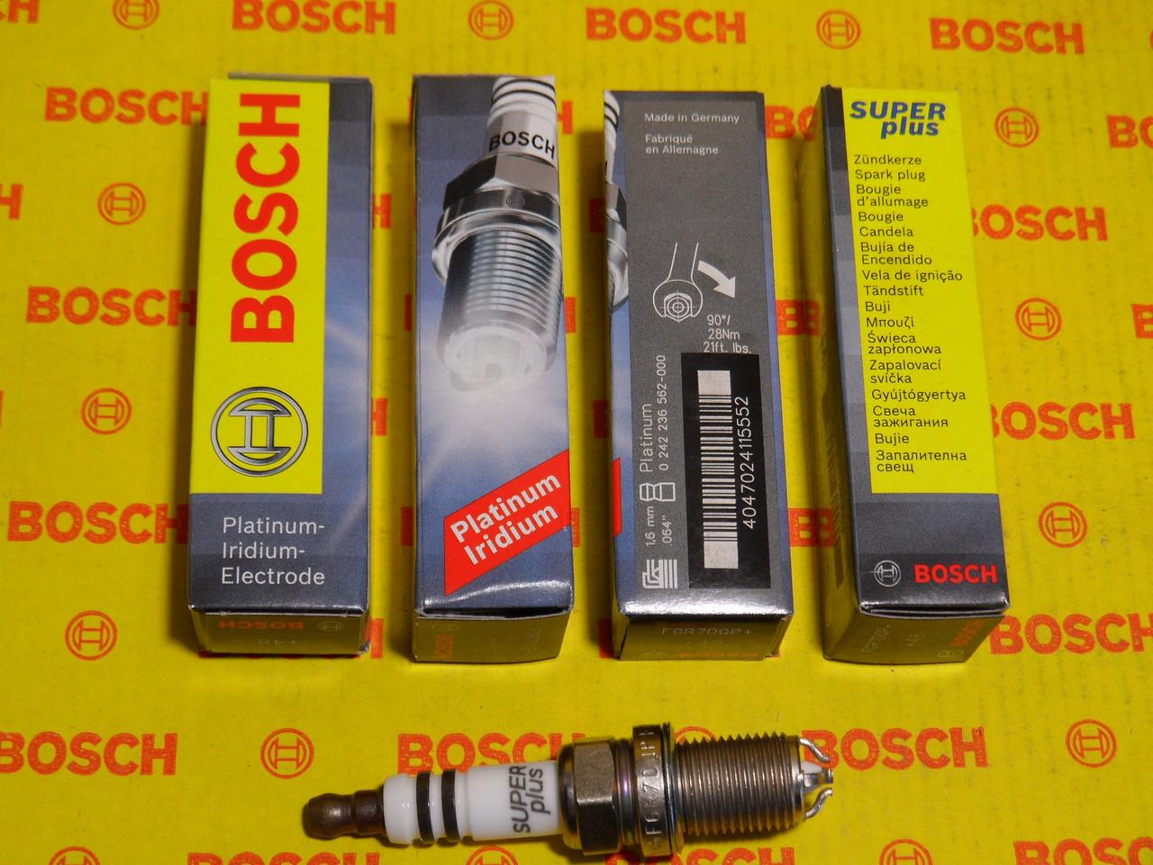 Свечи зажигания BOSCH, FGR7DQP+, +48, 1.6, Super +, 0242236562, 0 242 236 562,