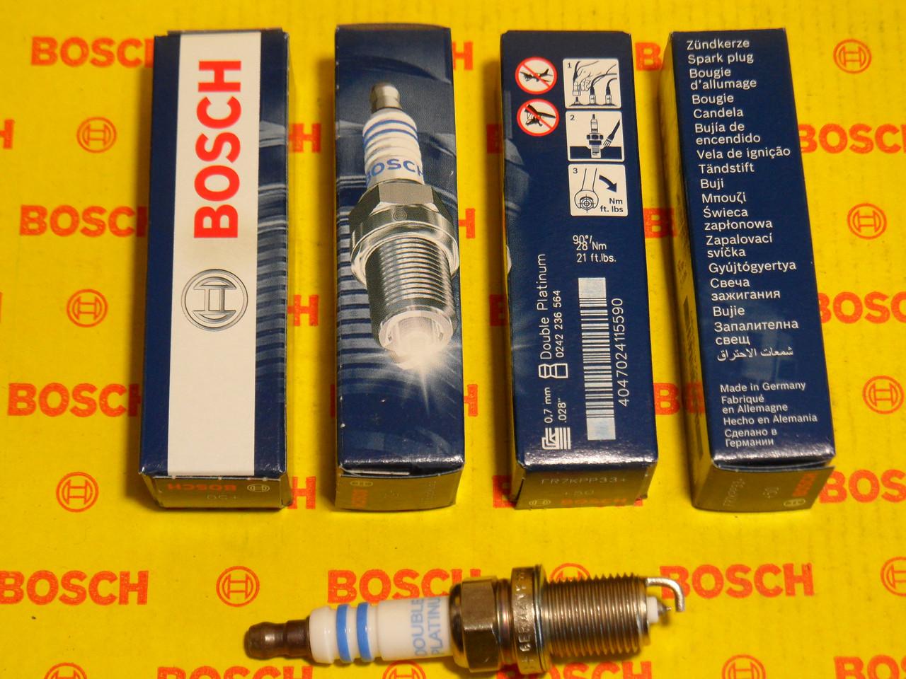 Свечи зажигания BOSCH, FR7KPP33+, +50, 0.7, Super +, 0242236564, 0 242 236 564,