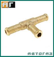 Тройник тосольный ГБО T 10 mm металл