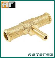 Тройник тосольный ГБО T 12mm / 6mm / 12mm металл